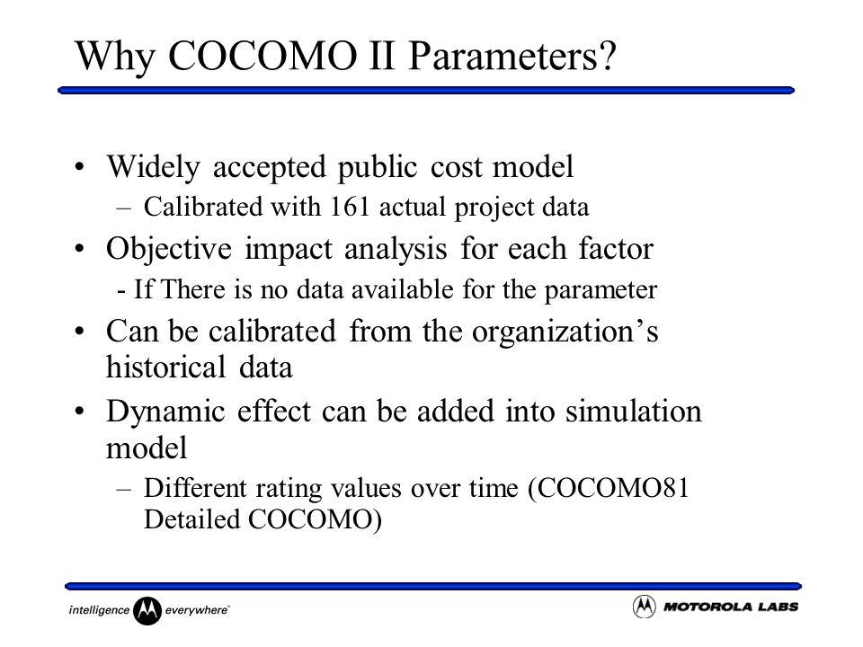 Why COCOMO II Parameters.