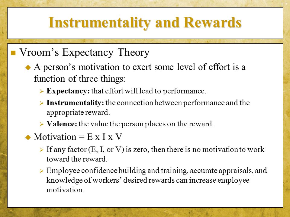 case study motivation reward system expectancy theory goal setting Case study(what-if analysis): a question of motivation presented by roll nos: 121-130 pgdm-b case facts stephanie • job rotation • skill variety • task significance • appreciation • employee empowerment • participative goal setting alex • monotonous job • no appreciation • biased rewards • no job freedom • no feedback.