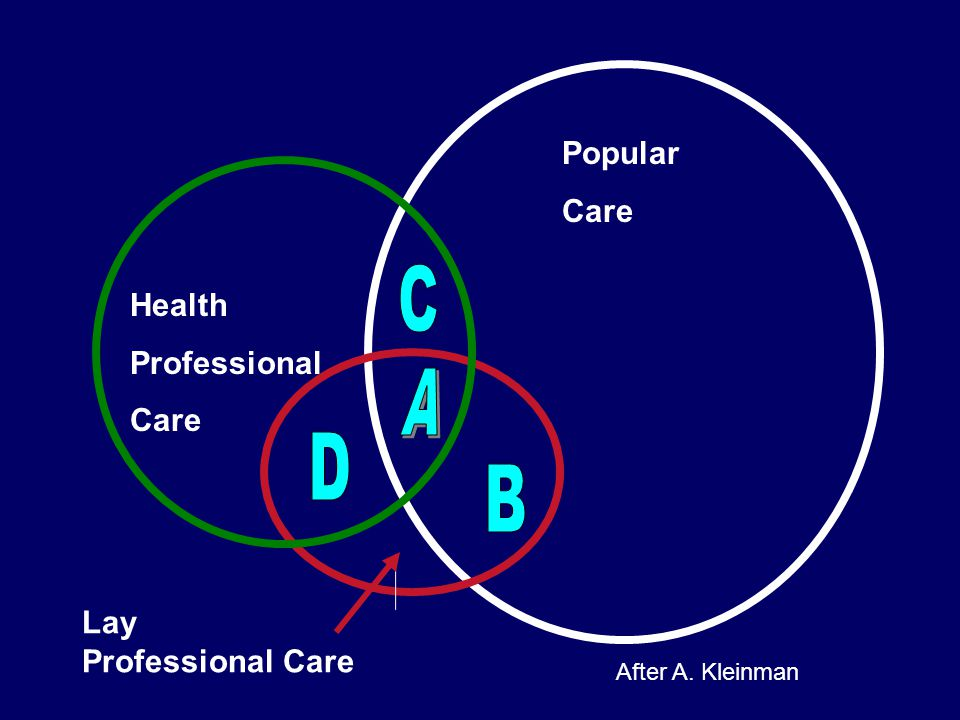 Popular Care Health Professional Care Lay Professional Care After A. Kleinman