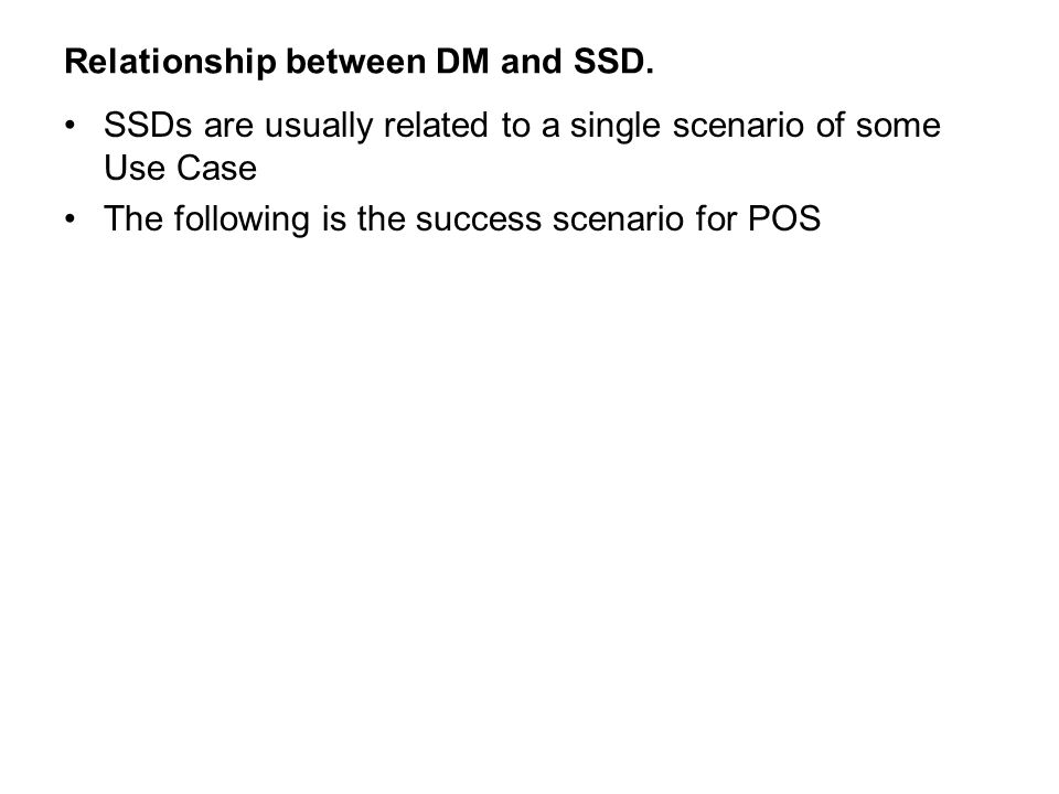 Relationship between DM and SSD.