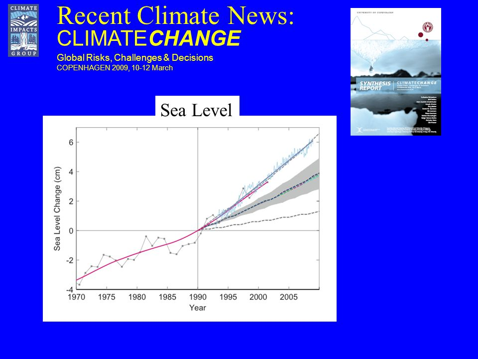 Recent Climate News: CLIMATECHANGE Global Risks, Challenges & Decisions COPENHAGEN 2009, March Sea Level