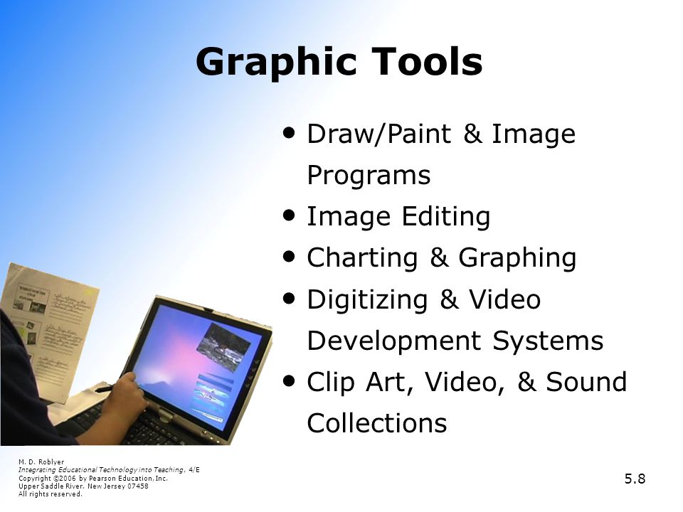 Graphic Tools Draw/Paint & Image Programs Image Editing Charting & Graphing Digitizing & Video Development Systems Clip Art, Video, & Sound Collections 5.8 M.