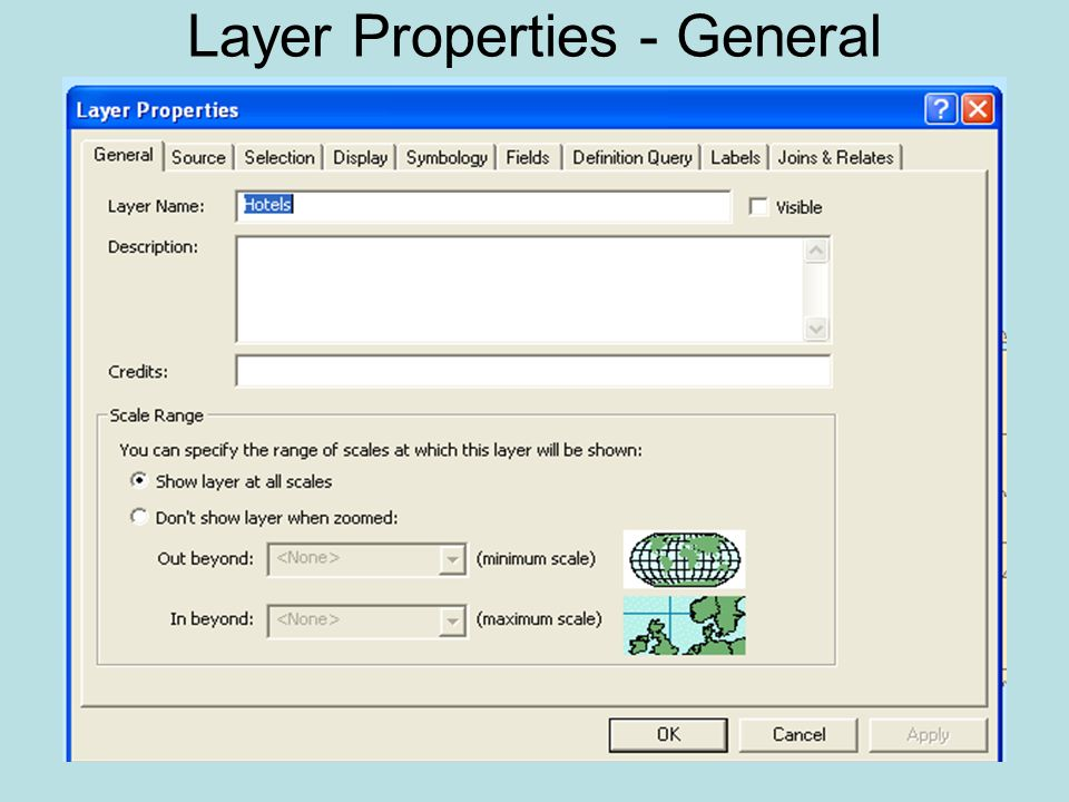 Layer Properties - General
