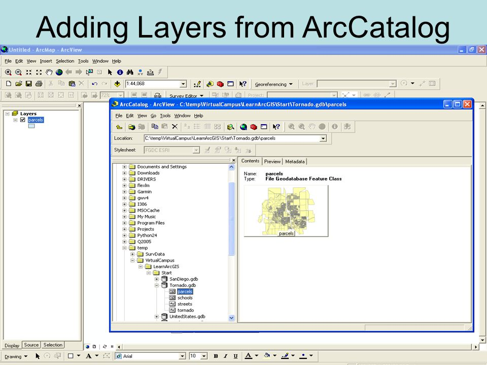 Adding Layers from ArcCatalog