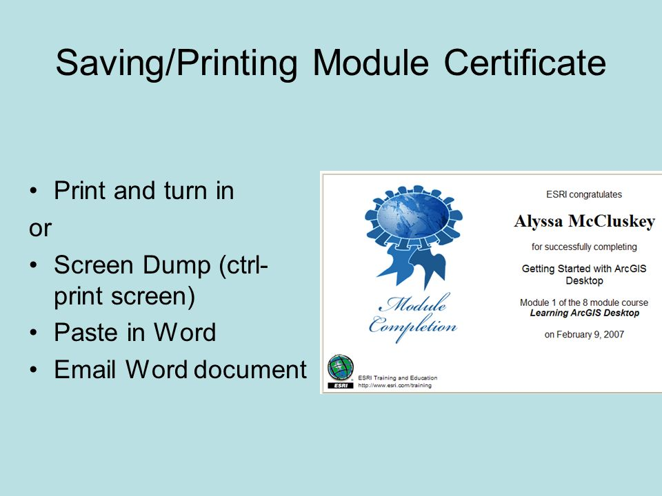 Print and turn in or Screen Dump (ctrl- print screen) Paste in Word  Word document
