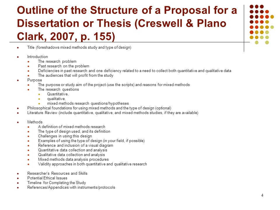 Dissertation Proposal Structure
