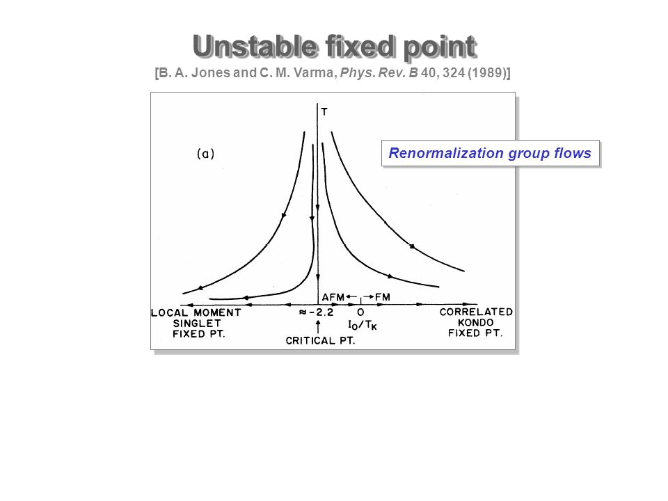 Unstable fixed point [B. A. Jones and C. M. Varma, Phys.