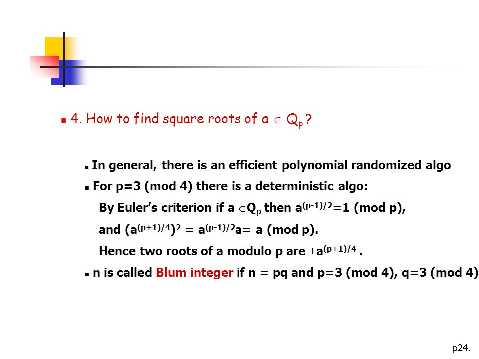 p How to find square roots of a  Q p .