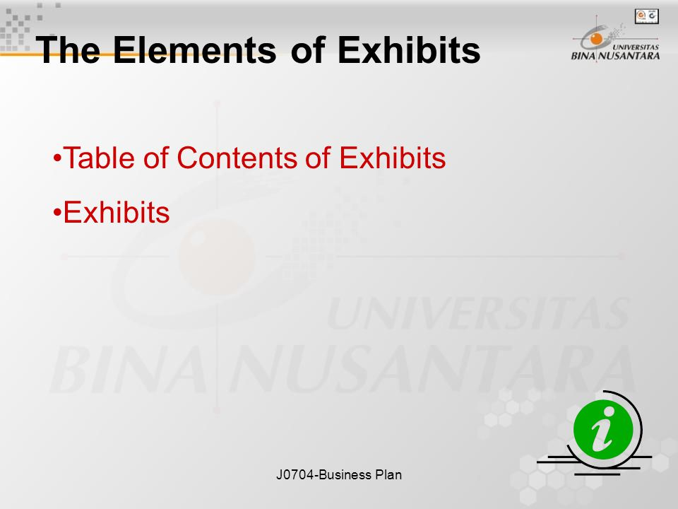 JBusiness Plan Business Plan Exhibits Session Ppt Download