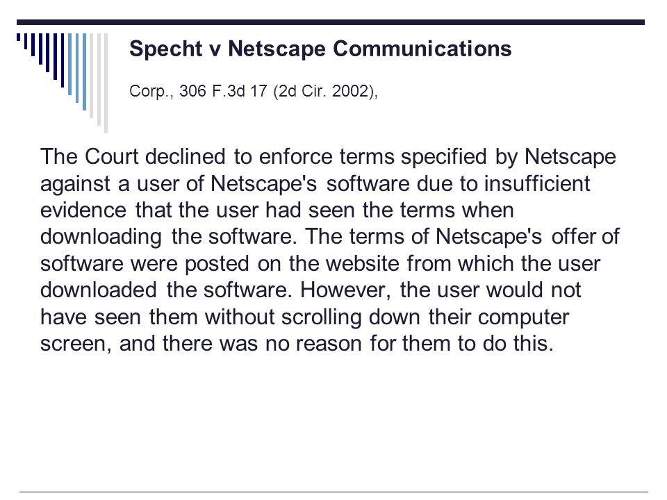 Specht v Netscape Communications Corp., 306 F.3d 17 (2d Cir.