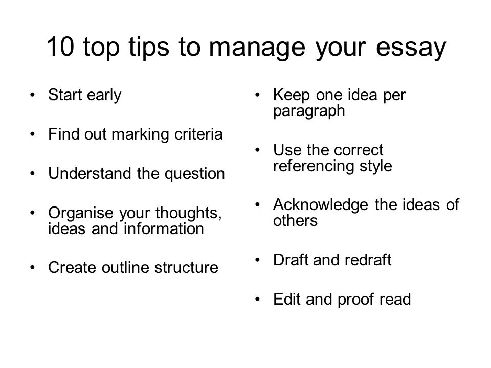 essay marking criteria university