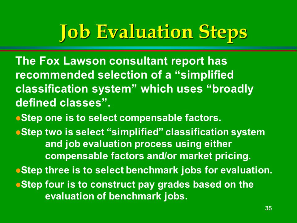 1 Position Evaluation Is The Foundation Of Pay Program Design