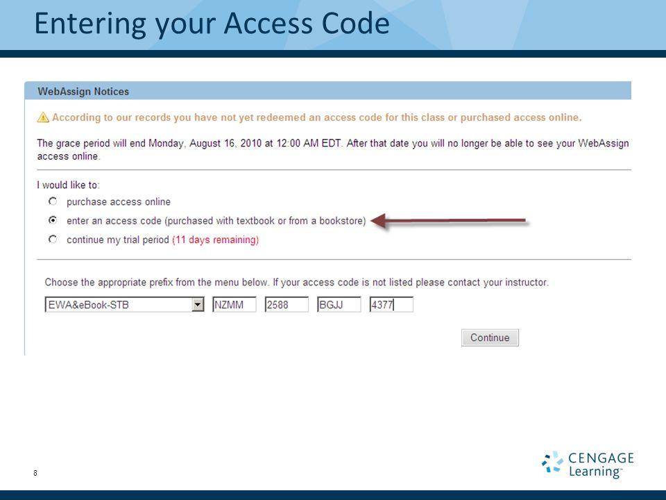 webassign class code