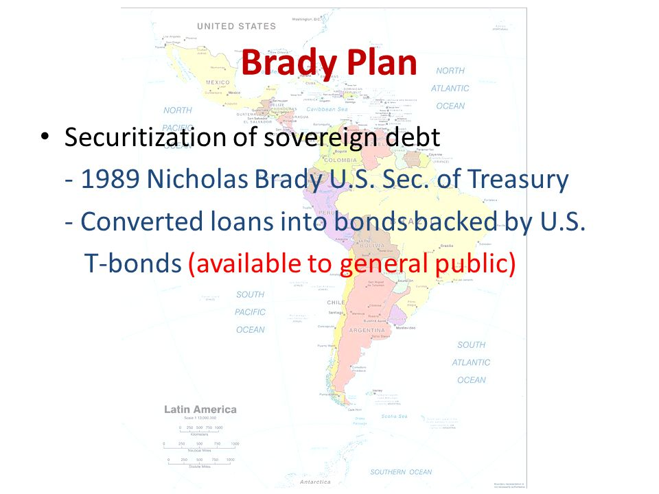 Brady Plan Securitization of sovereign debt Nicholas Brady U.S.