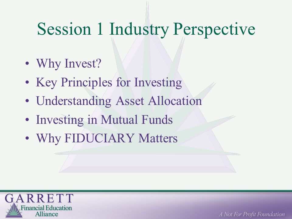 Session 1 Industry Perspective Why Invest.