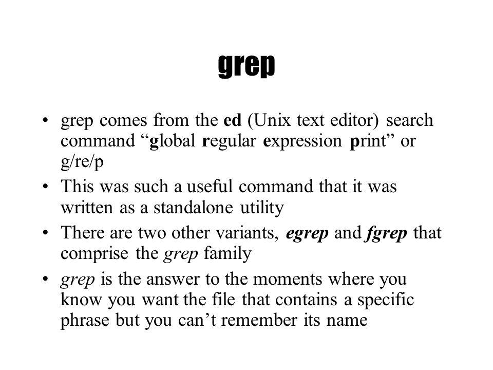 grep command in unix