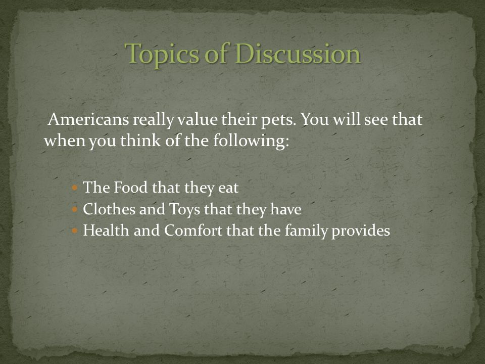 Americans really value their pets.