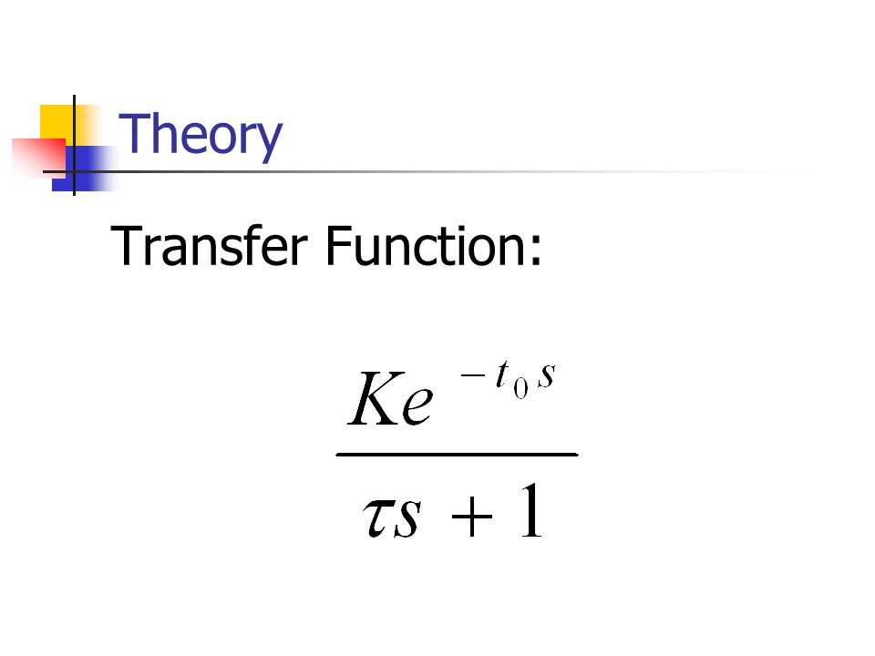 Theory Transfer Function: