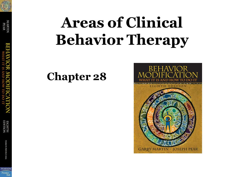Areas of Clinical Behavior Therapy Chapter 28