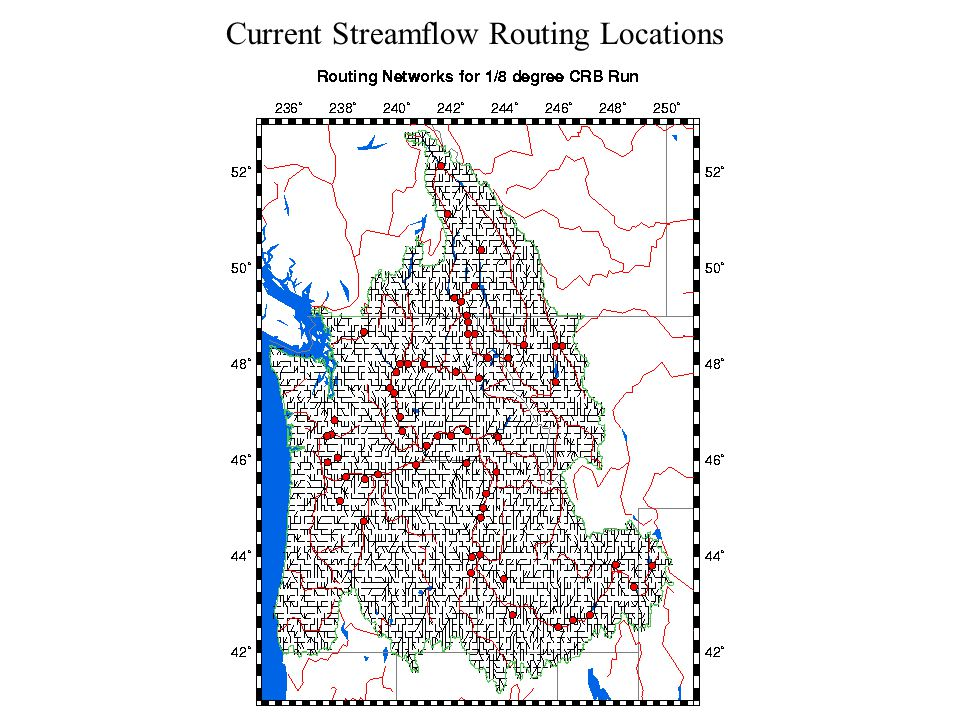 Current Streamflow Routing Locations