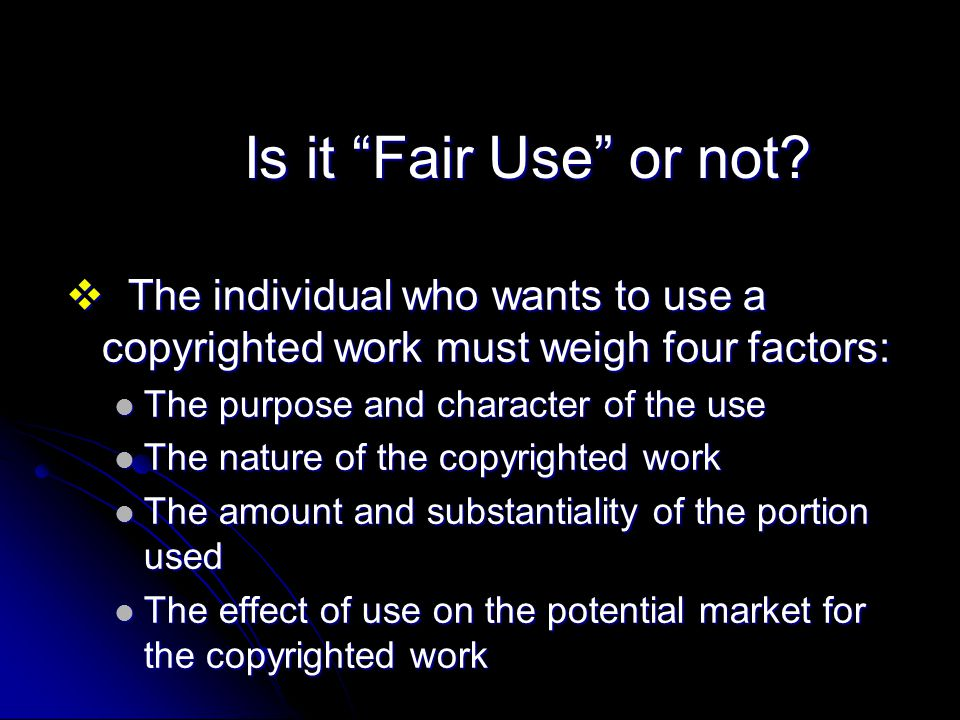 Is it Fair Use or not.
