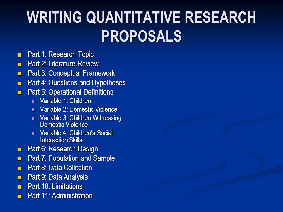 Chapter 16 Quantitative Proposals And Reports Writing Quantitative