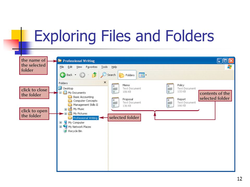 12 Exploring Files and Folders