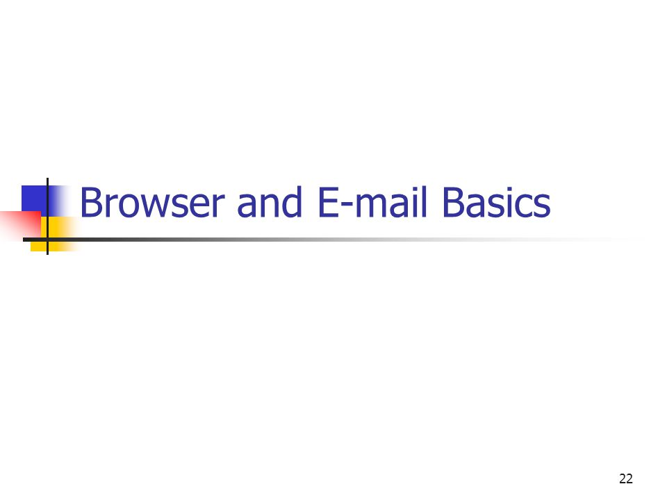 22 Browser and  Basics