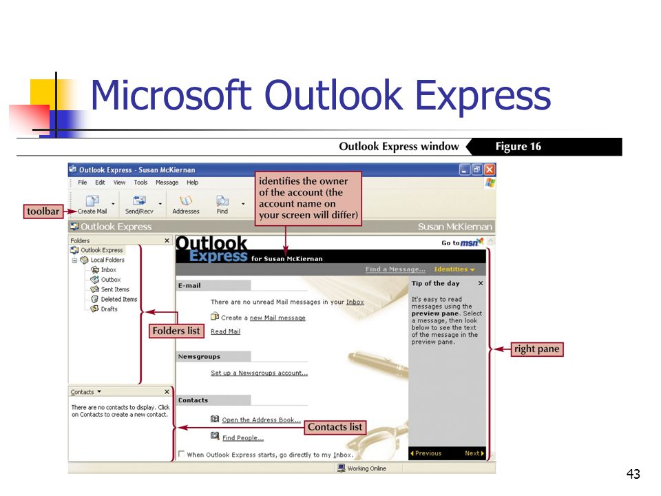 43 Microsoft Outlook Express