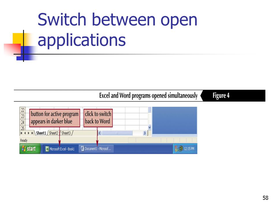 58 Switch between open applications