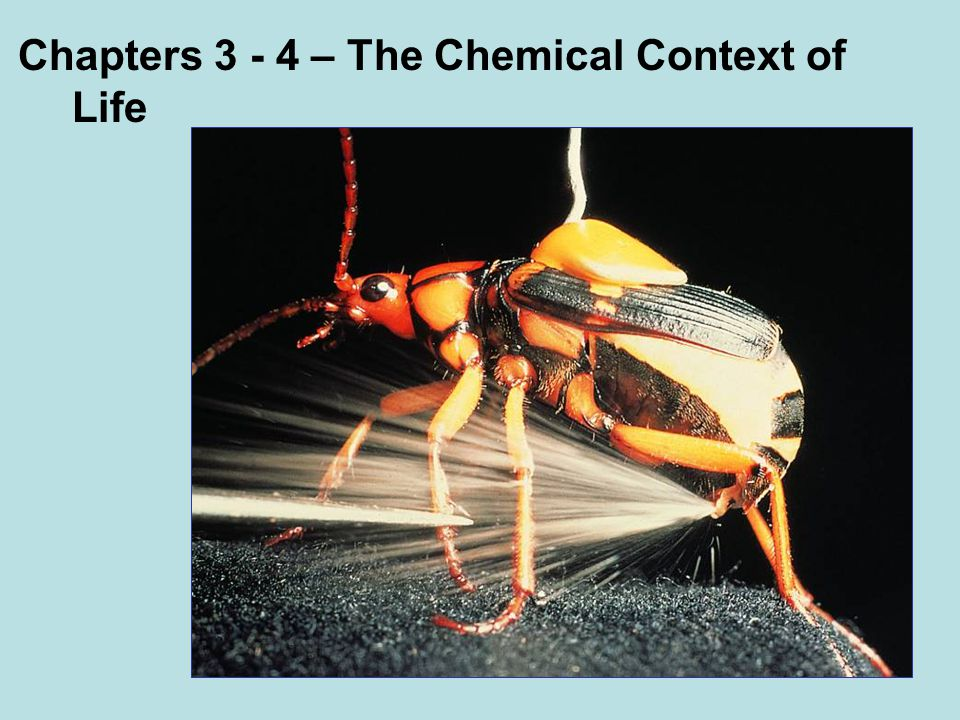 Chapters – The Chemical Context of Life