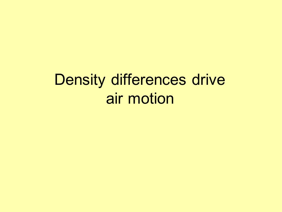 Density differences drive air motion