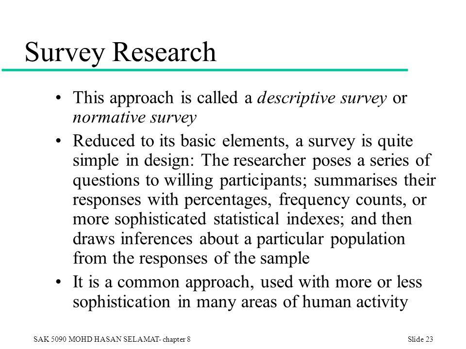 Descriptive survey research design