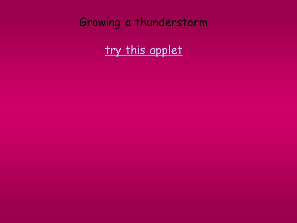 Growing a thunderstorm try this applet try this applet