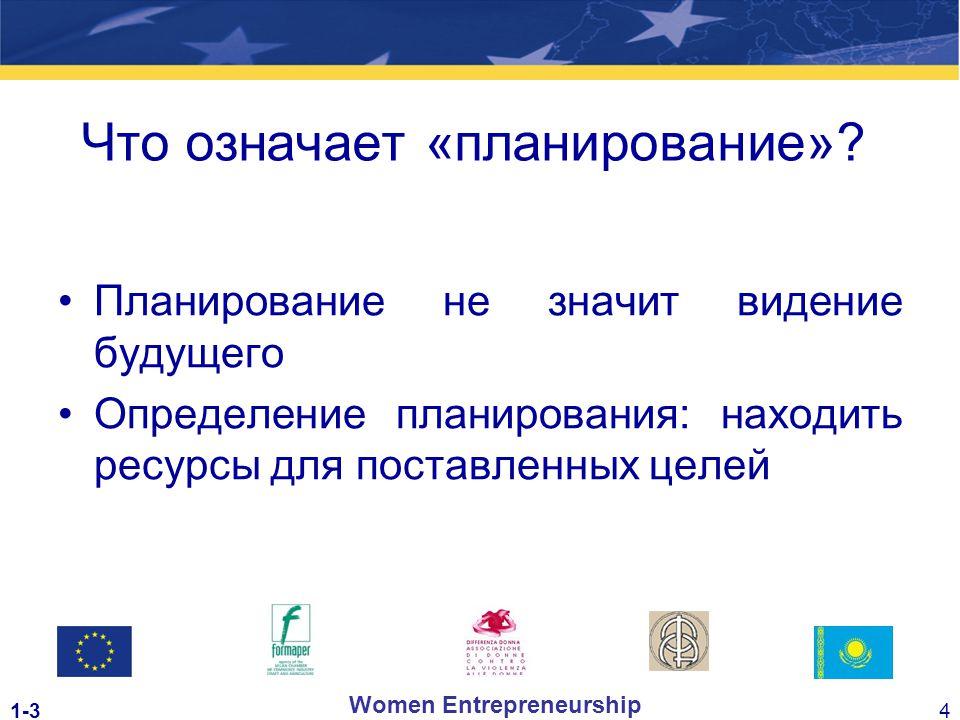 1-34 Women Entrepreneurship Что означает «планирование».