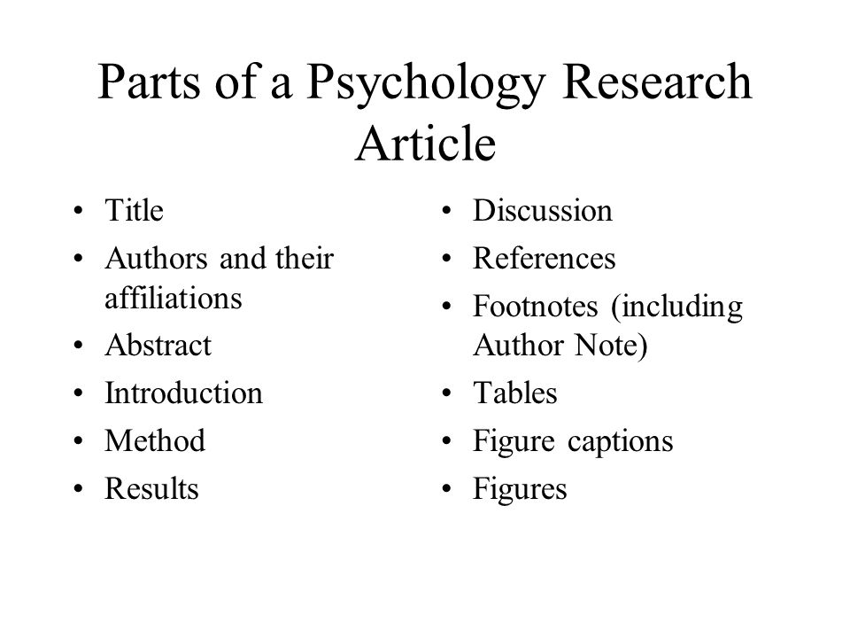 Example of results and discussion in a research paper