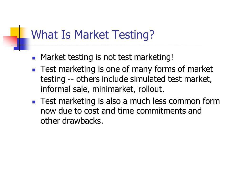 CHAPTER NINETEEN Market Testing November 9, ppt download