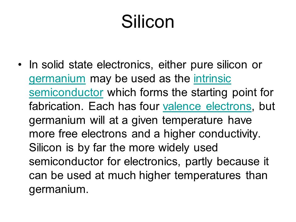 the use of silicon as a semiconductor Uses of silicon silicon dioxide and silica (in the form of clay or sand) are important components of bricks, concrete and portland cement silicon is a semiconductor this means that electrical flow can be controlled by using silicon parts therefore, silicon is very important in the electrical industry silicon parts are used in computers.