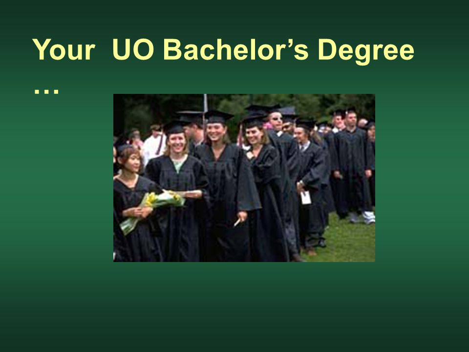 Your UO Bachelor's Degree …