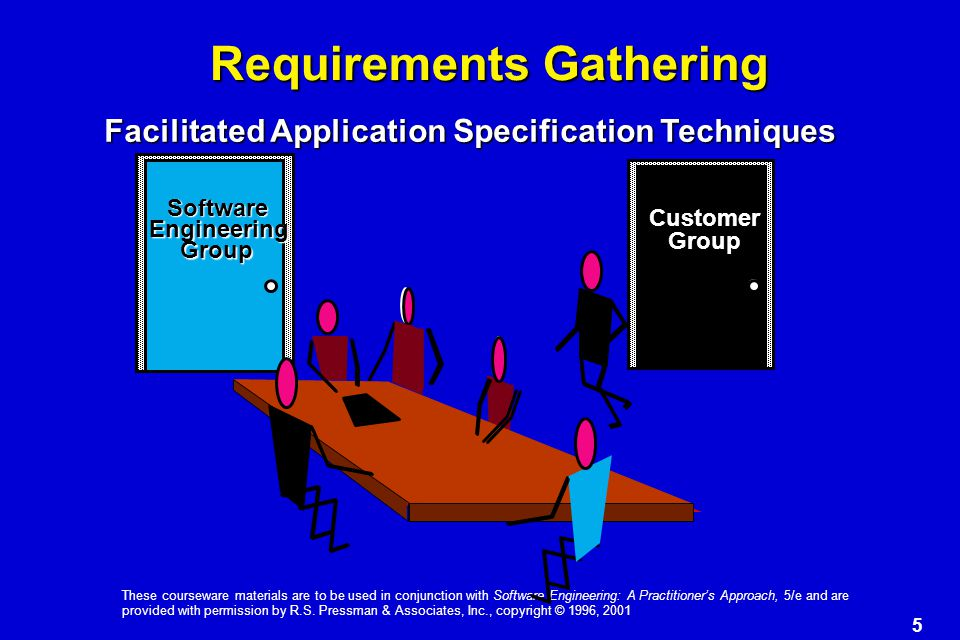 5 These courseware materials are to be used in conjunction with Software Engineering: A Practitioner's Approach, 5/e and are provided with permission by R.S.