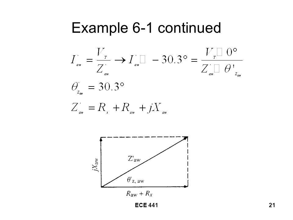 ECE Example 6-1 continued