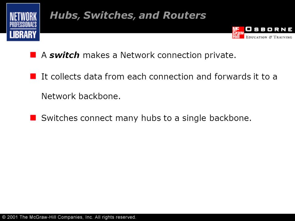 A switch makes a Network connection private.