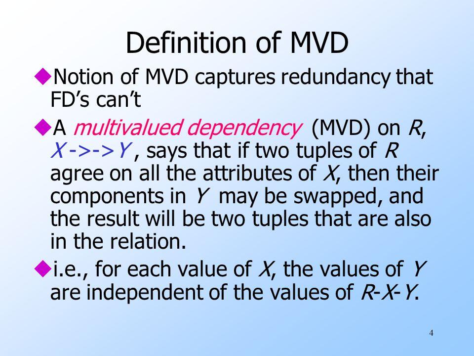 1 Multivalued Dependencies Fourth Normal Form Sources: Slides by ...