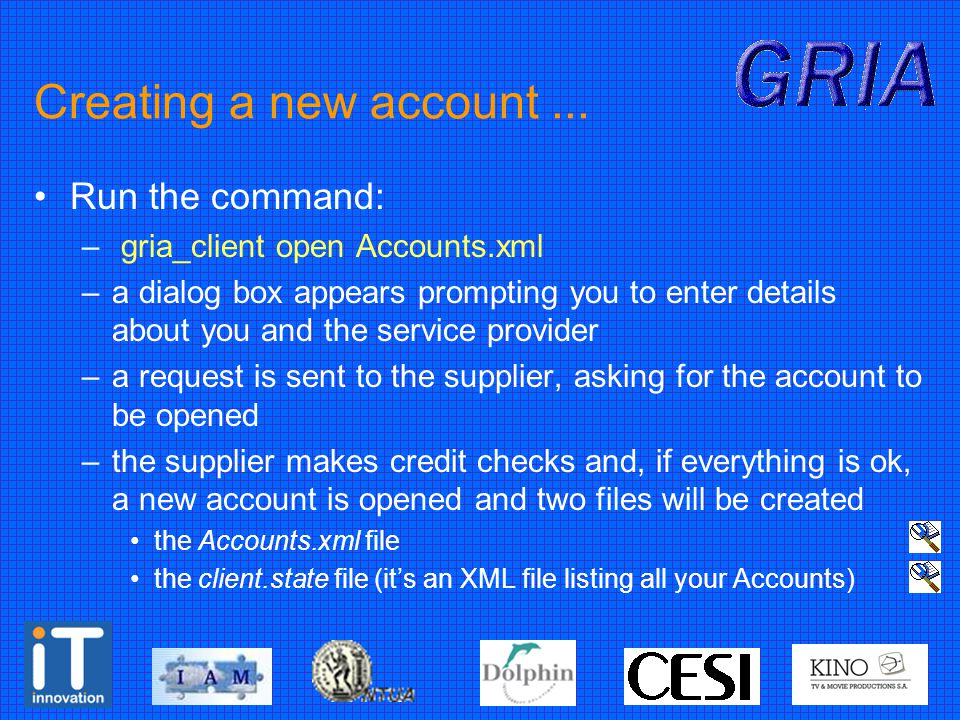 Creating a new account...