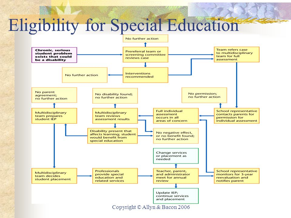 Copyright © Allyn & Bacon 2006 Eligibility for Special Education
