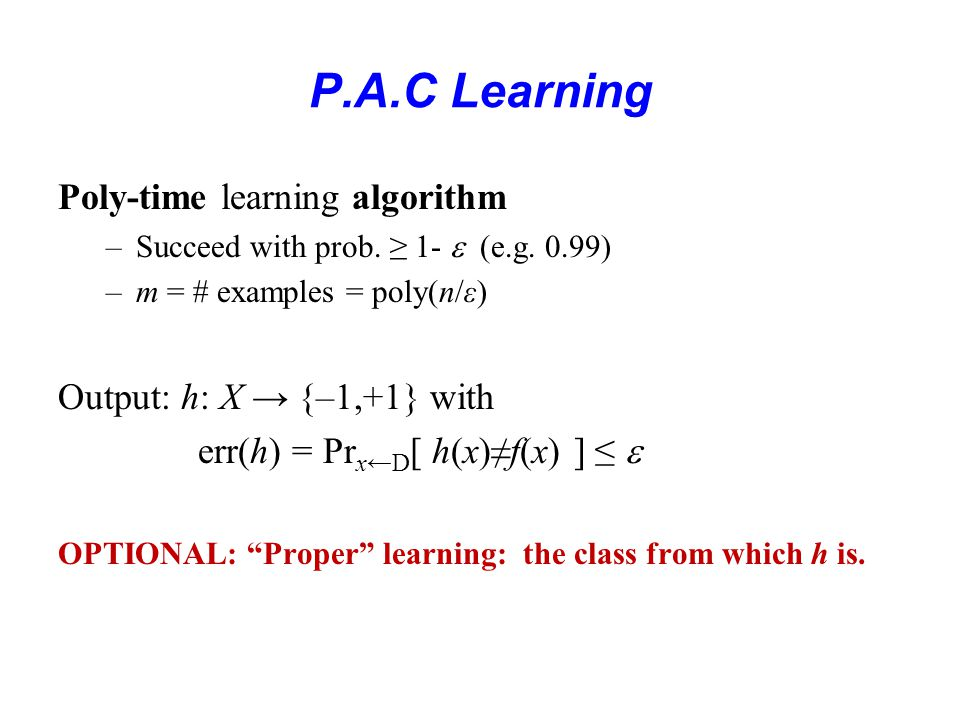 P.A.C. Learning !.