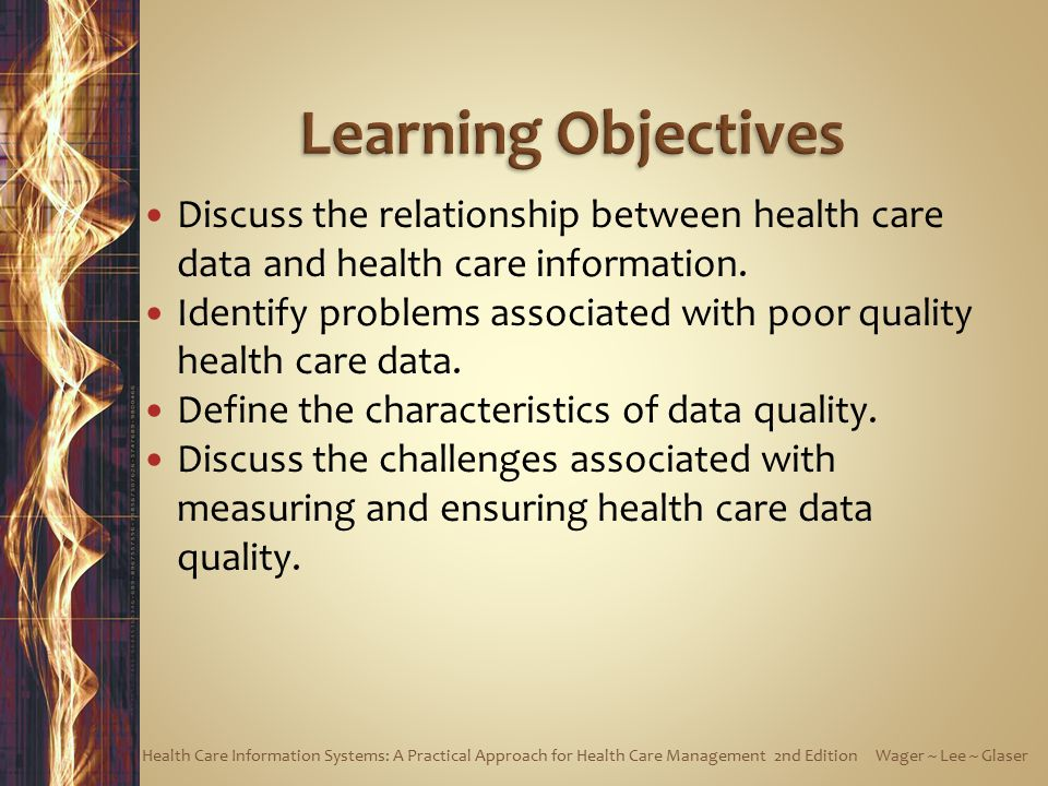 Discuss the relationship between health care data and health care information.