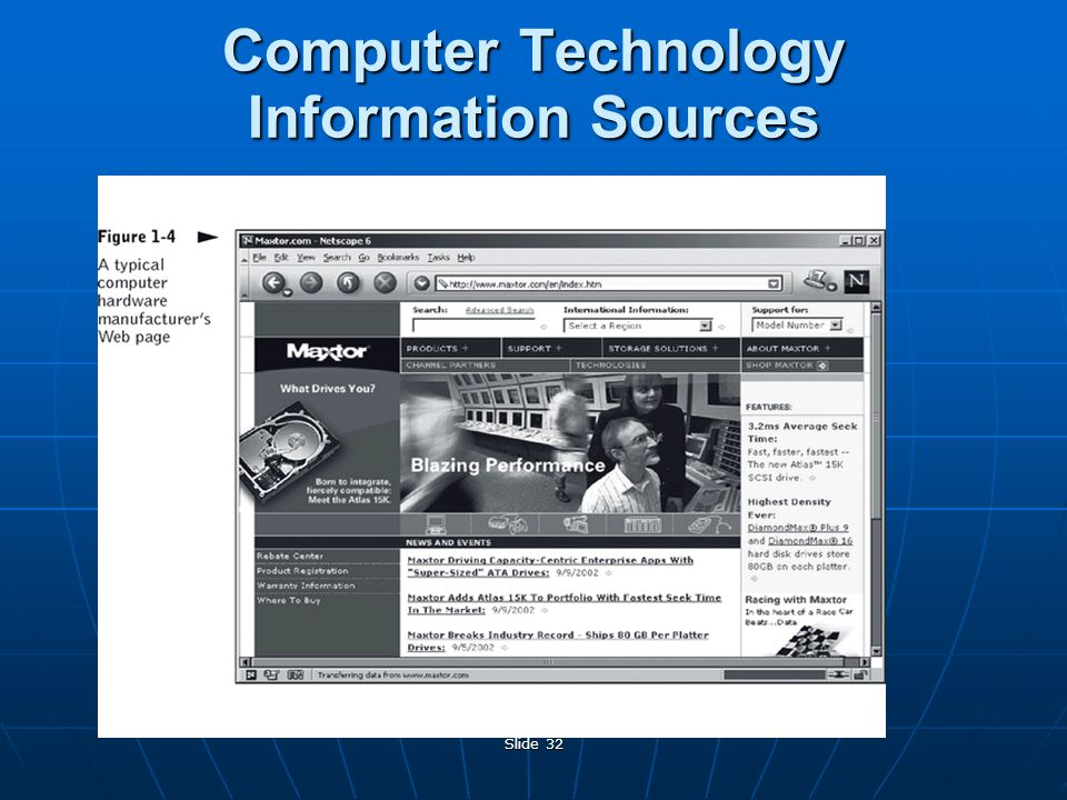 Slide 32 Computer Technology Information Sources