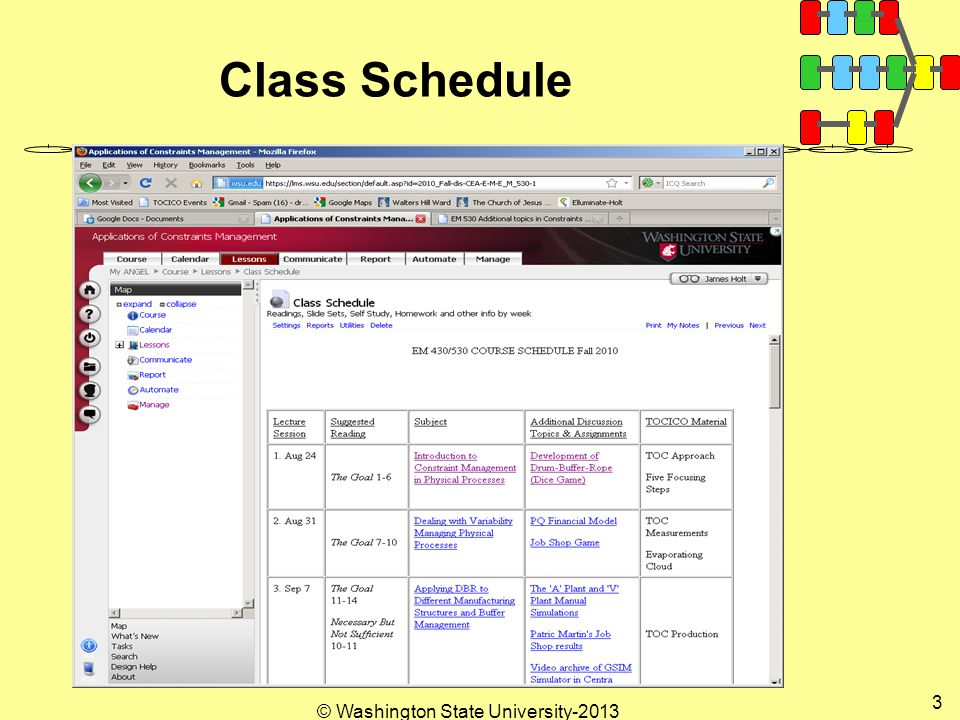 © Washington State University Class Schedule