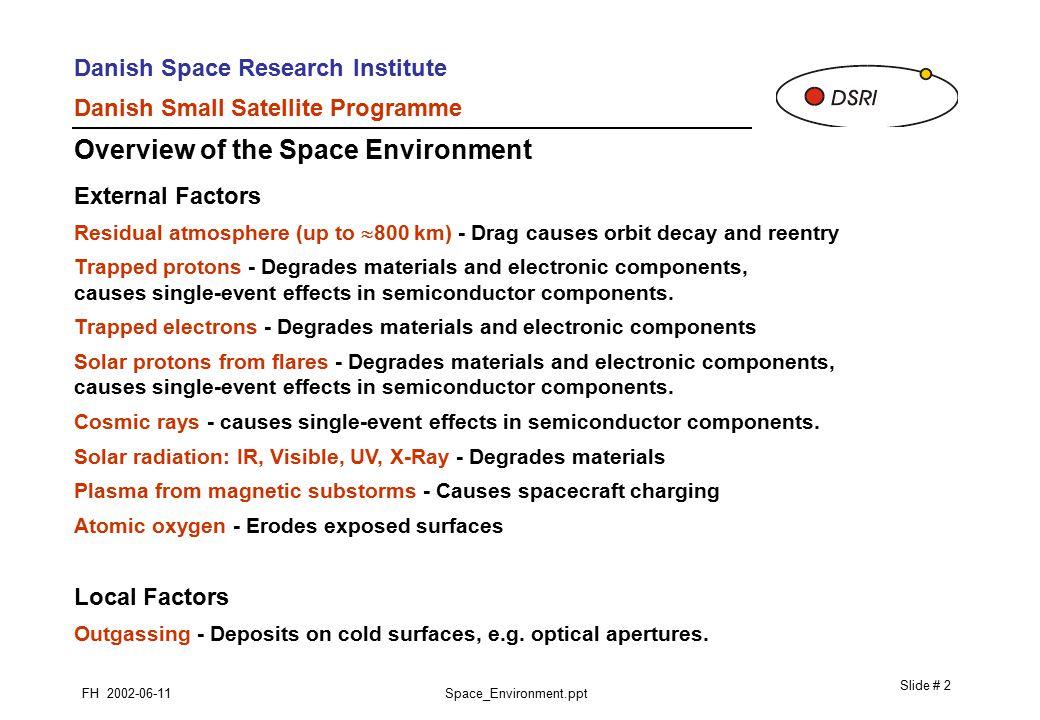 Danish Space Research Institute Danish Small Satellite Programme ...